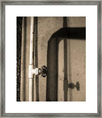 Pipe Shadow Framed Print by Dan Sproul
