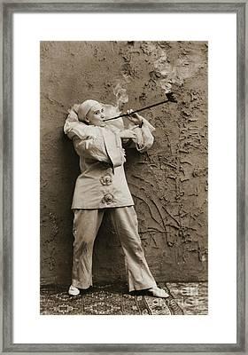 Pipe Smoking Mime 1895 Framed Print