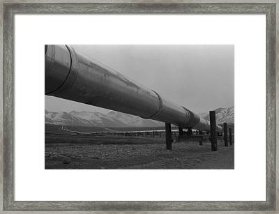 Pipeline Near Atigun Pass Brooks Framed Print by Everett