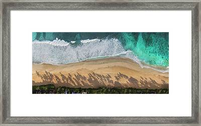 Pipeline Palms Framed Print by Sean Davey