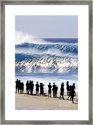 Pipeline Shadow Land - 2 Of 3 Framed Print by Sean Davey