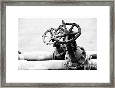 Pipeline Valves Framed Print by Gaspar Avila