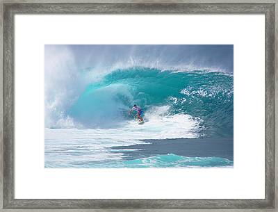 Pipeline's Reef Framed Print by Kevin Smith