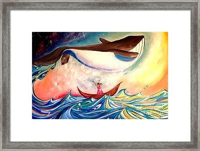 Piper And The Whale Framed Print by Abbi Kay