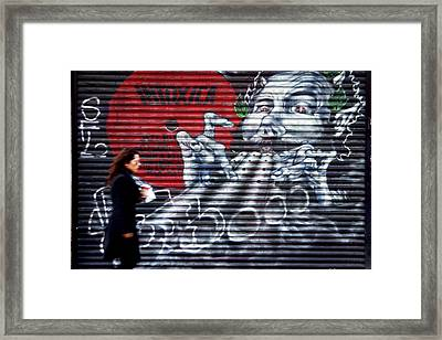Piper At The Gates Of Portobello Framed Print by Jez C Self