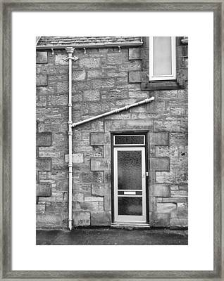 Framed Print featuring the photograph Pipes And Doorway by Christi Kraft