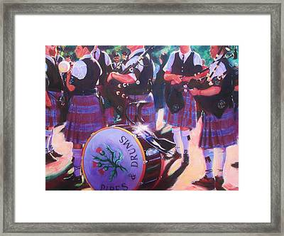Pipes And Drums Framed Print