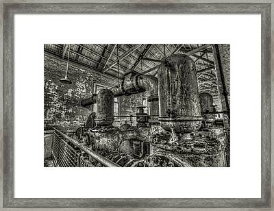 Pipes And Pumps And Pipes Framed Print