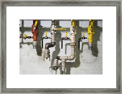 Pipes And Valves Framed Print