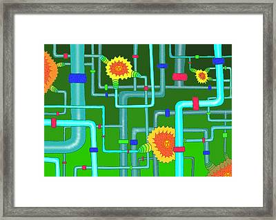Pipes Framed Print by Marc Donis