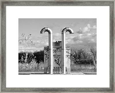 Pipes On The River Framed Print by Reb Frost