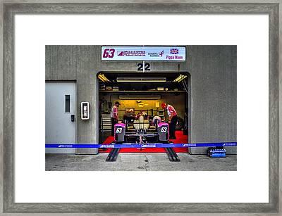 Pippa Mann Garage 2016 Framed Print