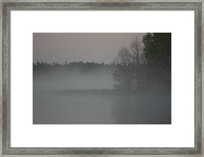 Piprell Lake 4 Am Mist Framed Print by Andrea Lawrence