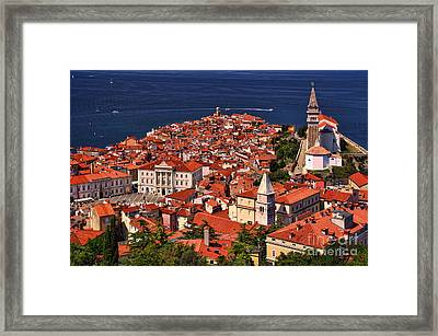 Piran From The Castle Wall Framed Print
