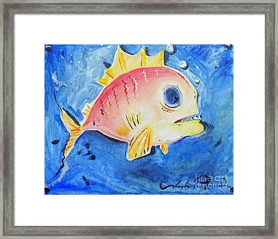 Piranha Art Framed Print