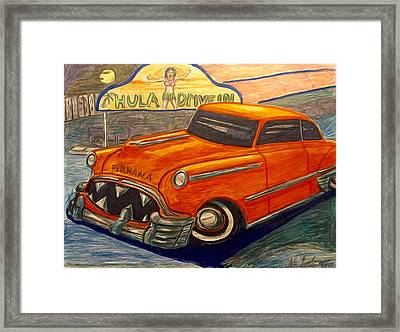 Piranha Classic Car Art Framed Print by Larry Lamb