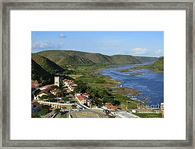 Piranhas - Alagoas - Brazil - Historic Centre Framed Print by Carlos Alkmin