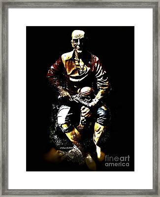 Framed Print featuring the photograph Pirate And Skull by Annie Zeno