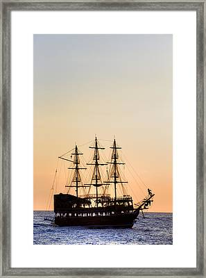 Pirate Boat Framed Print by Joana Kruse