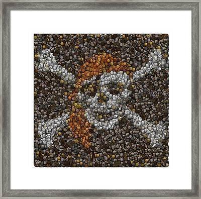 Framed Print featuring the digital art Pirate Coins Mosaic by Paul Van Scott