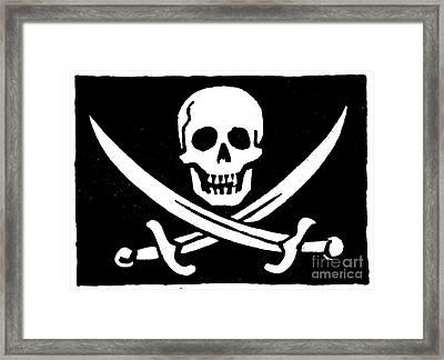 Pirate Flag Framed Print by Granger