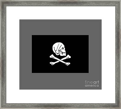 Pirate Flag Of Henry Every Framed Print by Frederick Holiday
