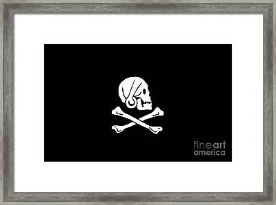 Pirate Flag Of Henry Every Tee Framed Print by Edward Fielding