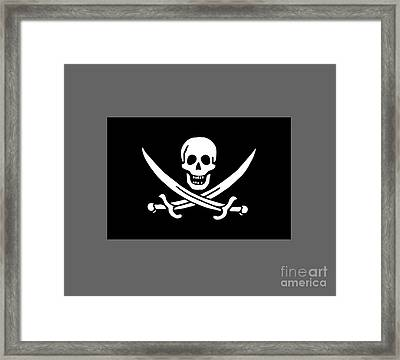 Pirate Flag Of Jack Rackham Framed Print by Frederick Holiday