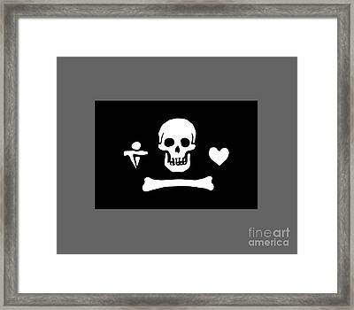 Pirate Flag Of Stede Bonnet Framed Print by Frederick Holiday