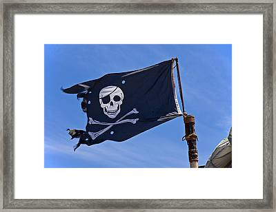 Pirate Flag Skull And Cross Bones Framed Print by Garry Gay