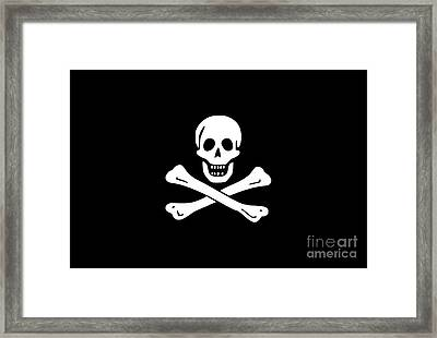 Pirate Flag Tee Framed Print by Edward Fielding