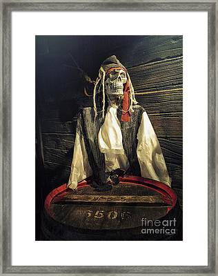 Pirate Forever Framed Print by Jutta Maria Pusl
