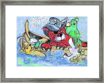Pirate In The Pond Framed Print