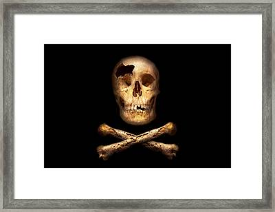 Pirate - Pirate Flag - I'm A Mighty Pirate Framed Print by Mike Savad