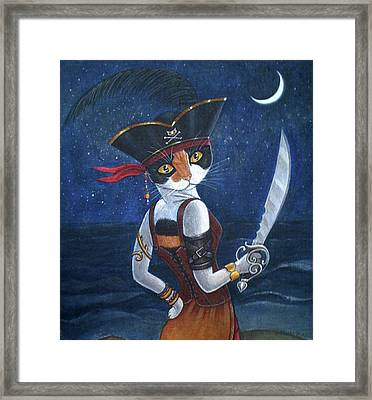 Pirate Queen Framed Print by Fairy Tails Portraits