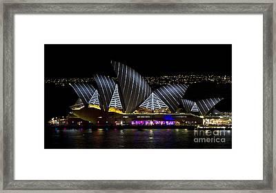 Pirate Sails - Sydney Opera House - Vivid Festival - Australia Framed Print by Bryan Freeman