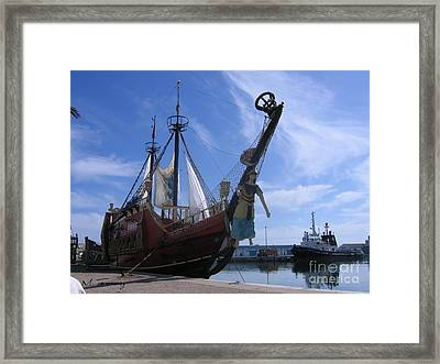 Framed Print featuring the photograph Pirate Ship - Sousse Harbour by Maciek Froncisz