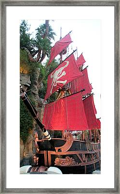 Pirate Ship Framed Print by Alan Espasandin