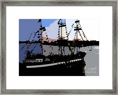 Pirate Ship Framed Print by David Lee Thompson