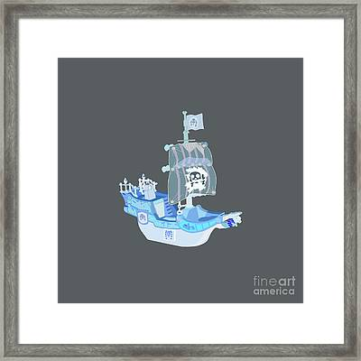 Pirate Ship  Framed Print by Frederick Holiday
