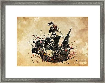Pirate Ship Print 4 Framed Print by Svetla Tancheva