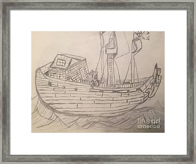 Pirate Ship Framed Print