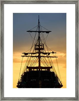 Pirate Ship Framed Print by Stelios Kleanthous