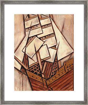 Shipwrecked Art Print Framed Print by Tommervik