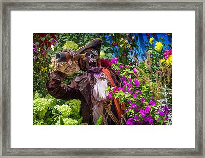 Pirate Skeleton Drinking Framed Print by Garry Gay
