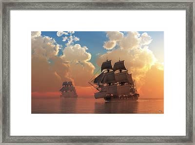 Pirate Sunset Framed Print