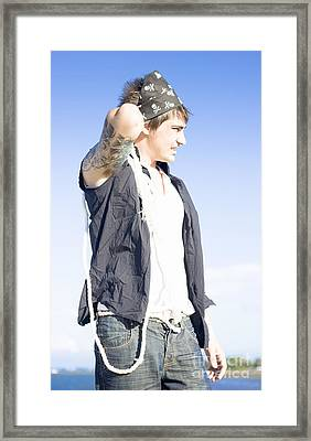 Pirate With Rope Framed Print by Jorgo Photography - Wall Art Gallery