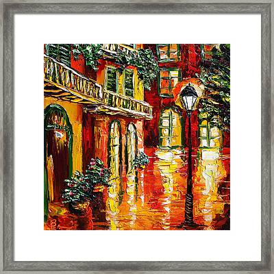 Pirate's Alley Framed Print by Beata Sasik