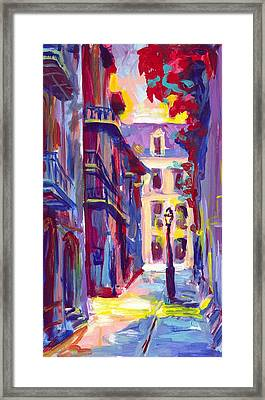Pirates Alley New Orleans Framed Print by Saundra Bolen Samuel