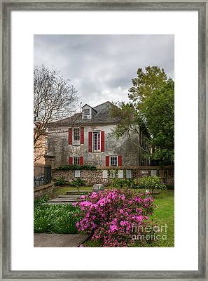 Pirates Courtyard In Charleston Sc Framed Print by Dale Powell